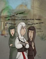 AC: Annoying beggars by justpottering