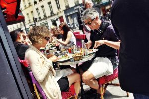 on the streets of Paris by Bobbyus