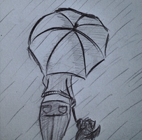 Girl In the Rain by Izzie97