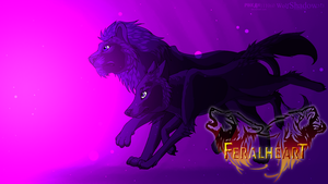 Collab -Feralheart Wallpaper by WolfShadow513