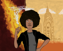 Erykah Badu and the Big City by visiblespectre