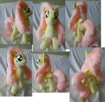 Large Fluttershy with folded wings by Rens-twin