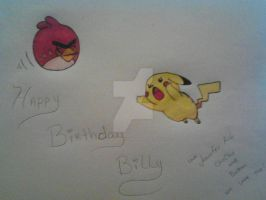 My Brothers birthday card. by Sunnibutt