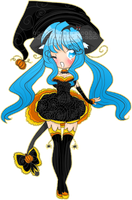 Kawaii Witch Ally nyan :3 by TehButterCookie