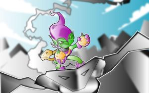 green goblin by kevtoons