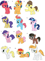 Pony Adopts (5 left) by Claire-Cooper