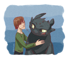 Hiccup and Toothless by Hi-Ku