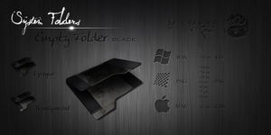 Black Empty Folder by Drawder