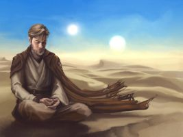Obi-Wan in the Desert by AgarthanGuide