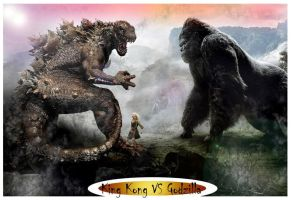 King Kong VS Godzilla by darkriddle1