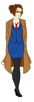 Doctor Who Genderbend - Female 10th Doctor by TheRoku-Draws