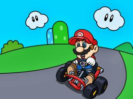 Super mario kart by minimariodrawer