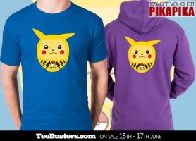 Good Luck Pikachu at TeeBusters this weekend by machmigo