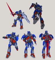 3D TF4 Optimus Prime rig test - updated model by RazzieMbessai