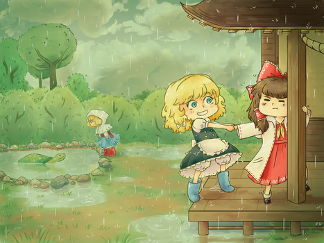 [Speedpaint] Puddles are stupid and I hate rain by ManaManami