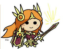 League of Legends Leona Chibi by sakashiiii