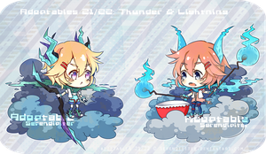 [CLOSED] Adoptables 21/ 22: Thunder and Lightning by Staccatos