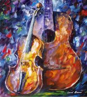 The Marriage of Music by Leonid Afremov by Leonidafremov