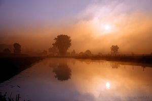 Its looks like a Fairytale this morning in the fog by Betuwefotograaf