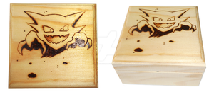 Wood Burned Haunter Box by DruidicDesigns