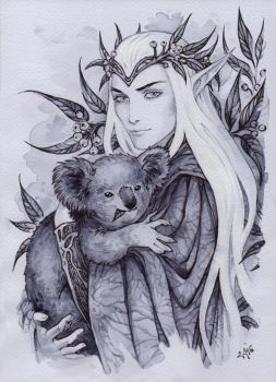 Thranduil and koala by Candra