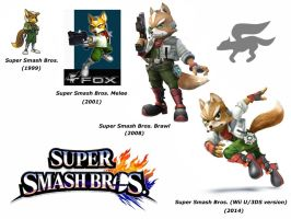Fox McCloud (Super Smash Bros. evolution) by delvallejoel