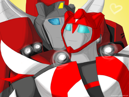 TF Prime: Inferno x Red Alert by DrGaster