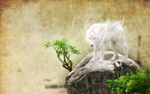 Okami Wallpaper 1440x900 by santiagocamps