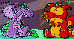 soossidrache and Spaike by Toxicoow