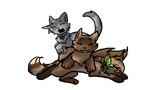 Misty, Wolfie, and Maplesyrup chibis :PC: by Neonfluzzycat