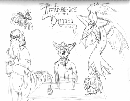 Sketch: Interns of the Damned by Luprand