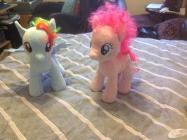 Rainbow Dash and Pinkie Pie Teddy by extraphotos
