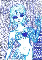 ATC-ACEO I Dream in Blue by MindOfPain