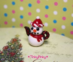Christmas snowman teapot by tinkypinky
