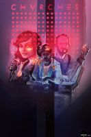 CHVRCHES - illustration by xocol4t4