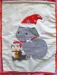 Bunny x Guinea pig xmas wall hanging by Crafty-lil-vixen