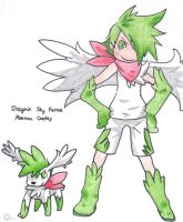 Shaymin Sky Forme Moemon by Aqws7