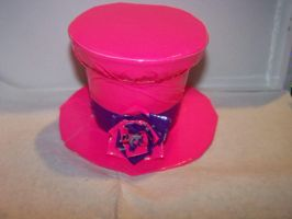 Duct Tape Mini Hat with Rose by Mitsukai-freak-527