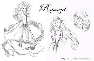 Rapunzel Sketches by spoonz10