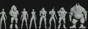 Mass Effect Species Height Reference. by Troodon80