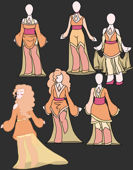 Morganite possible clothes by LinLupin
