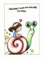 Because I love you Valentines Card by Moon-Lilly