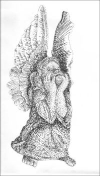 Stippled Angel by Ellunas