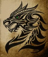 Agnarok, The Black Dragon Of The Night by moonlightdarkangel