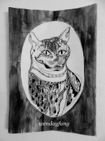 Portrait of the Cat Lady by tracemyheart