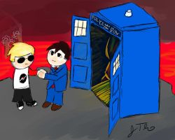 Doctor Who Crossover by cuttincows