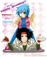 Domon and Allenby:Happy B-day by retrozero