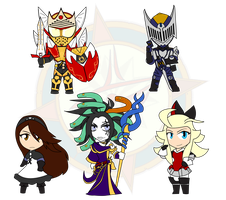 Assorted Chibis - Knights and Priestesses by Dragon-FangX