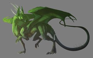 Green Dragon by AbelPhee