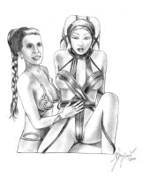 Leia and Lyn by csonger